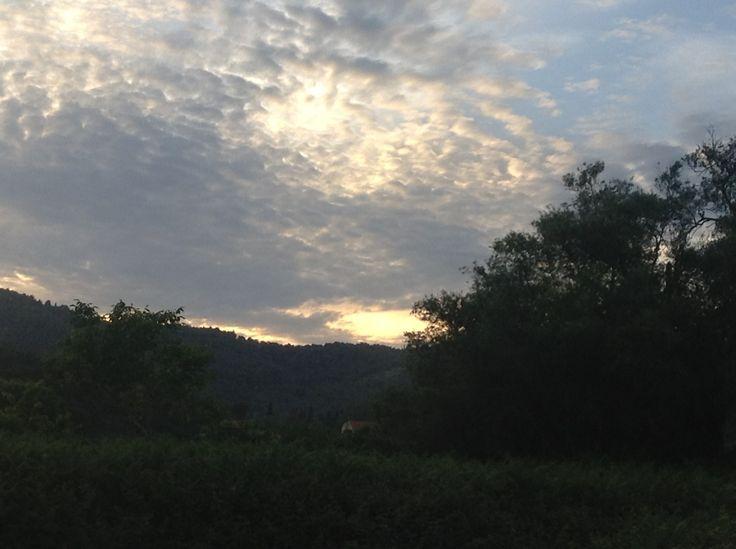 A beautiful evening at Villa Mimosa, near Arillas