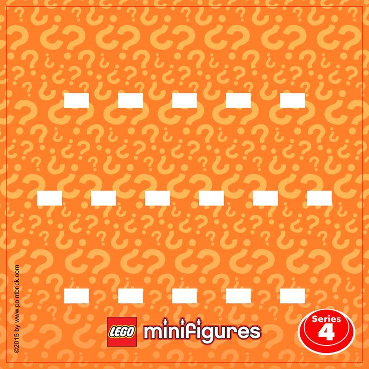 Lego Minifigures 8804 Series 4 Display Frame Background
