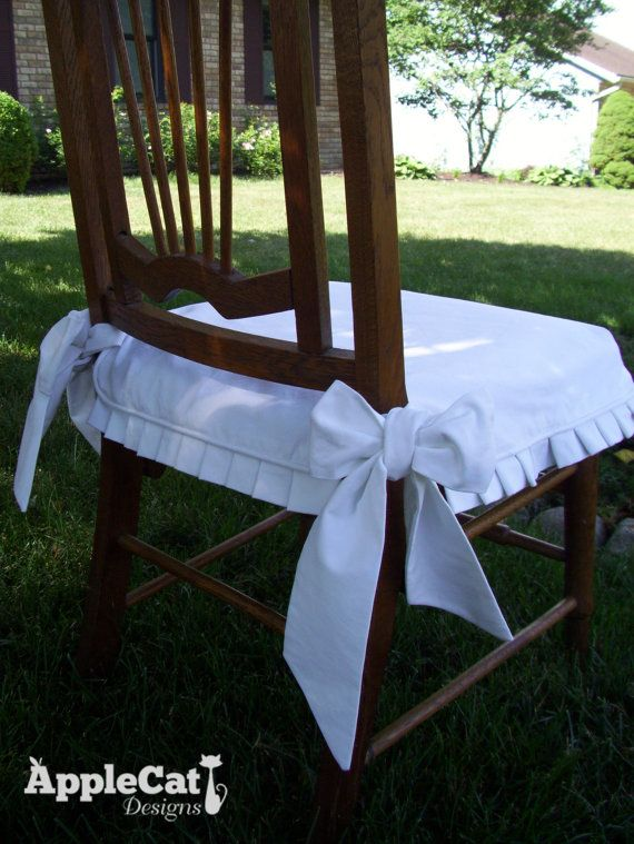 Chair Seat Cover Dining Chair Slipcover with Knife Pleat
