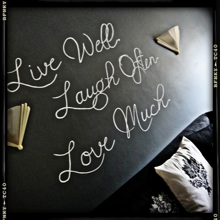 My very own wall calligraphy project in our living room :)