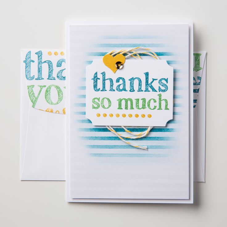 This darling notecard and coordinating envelope were made using A World of Thanks.