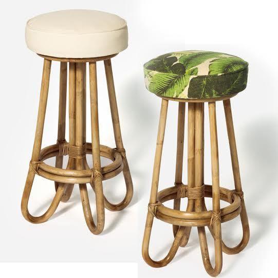 cancun stool rattan bar