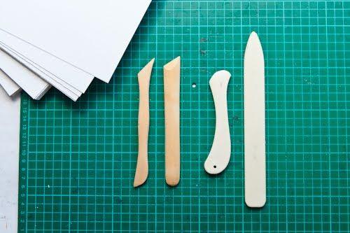 Sculpture tools as bone folders by Mettāville