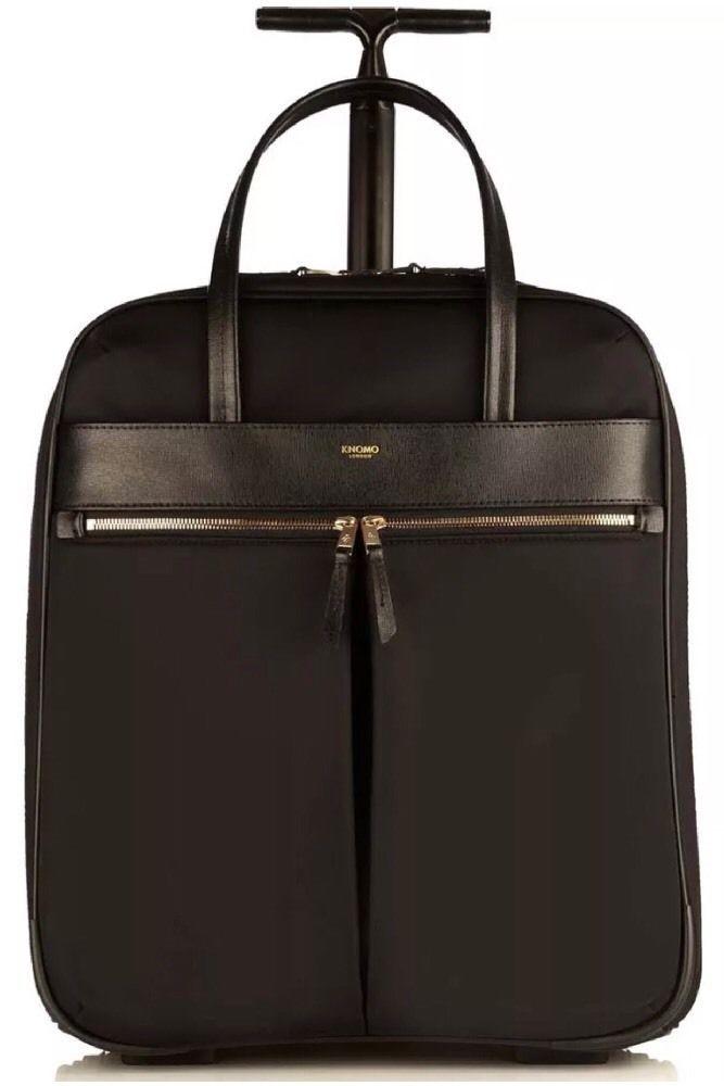 "Knomo Bag Mayfair Burlington Wheeled Business NS 15"" Bag Laptop Briefcase Black | eBay"