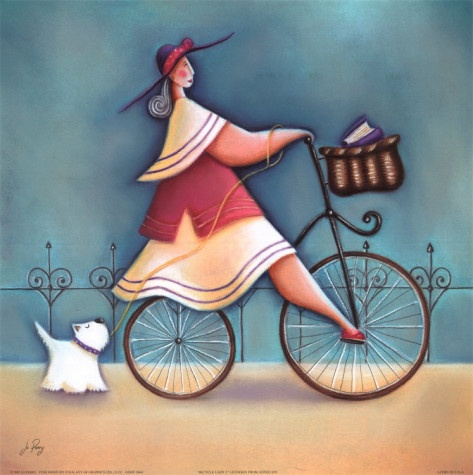 Bicycle Lady I by Jo Parry