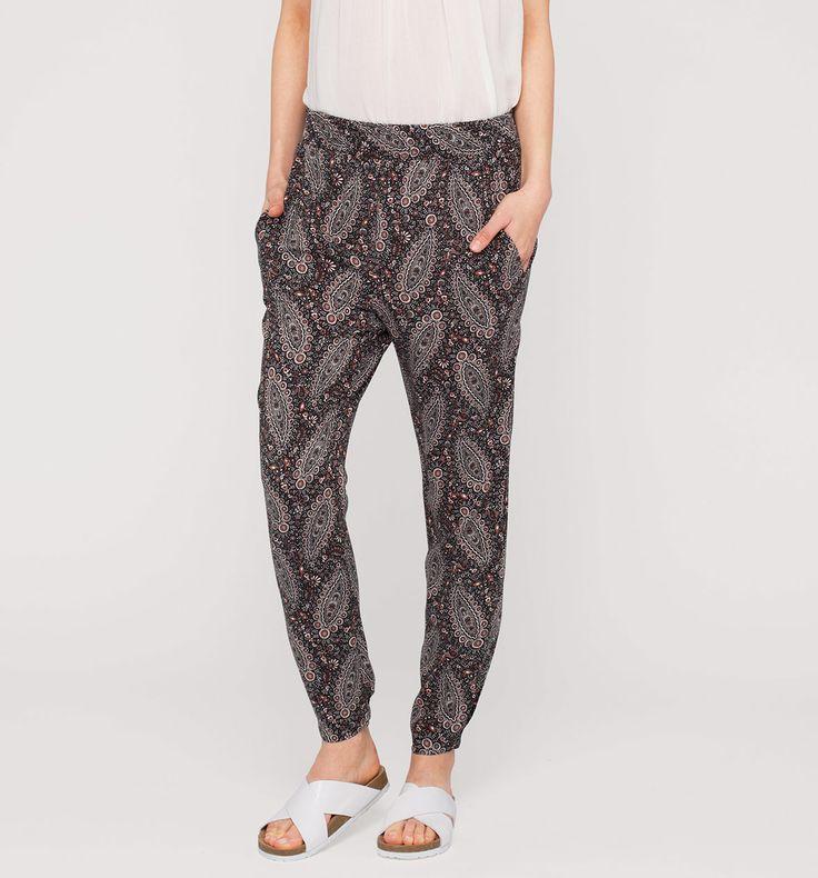 Pantaloni leggeri nei nero / bianco