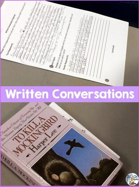 Liven Up Reading Discussions with written conversations.