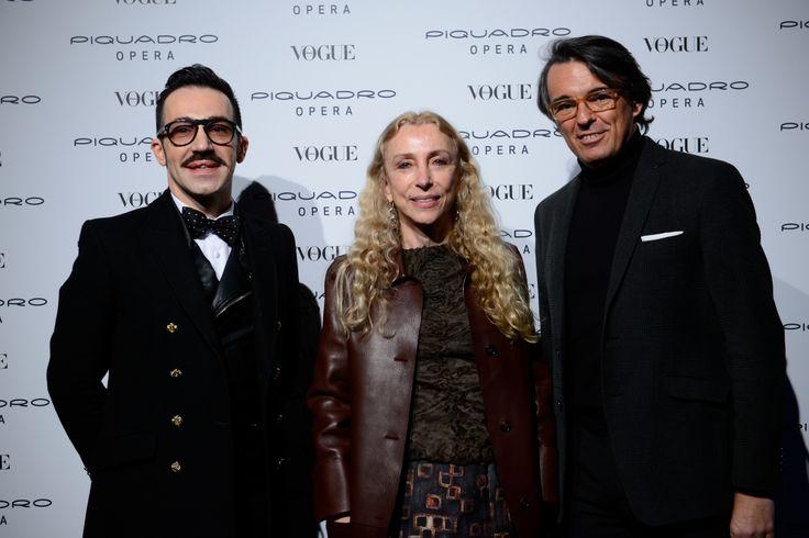 Giancarlo Petriglia, Franca Sozzani and Marco Palmieri
