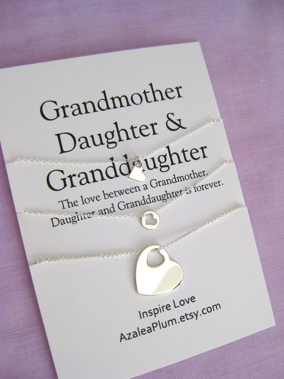 Mom Gifts 60th Birthday Gift for Women Generations Necklace GRANDMOTHER Mother Daughter 60th Birthday Gift for Mom Mom Birthday Gift