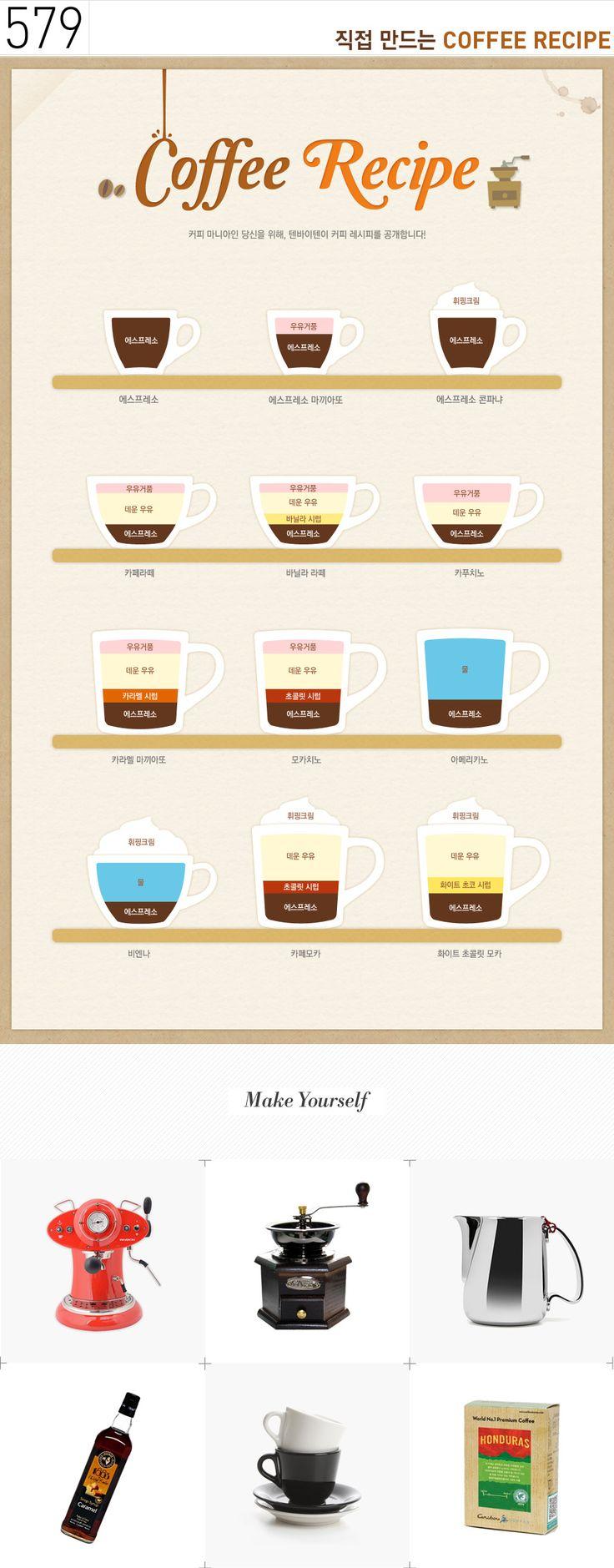 텐바이텐 10X10 : Day& 579 > 직접 만드는 Coffee Recipe
