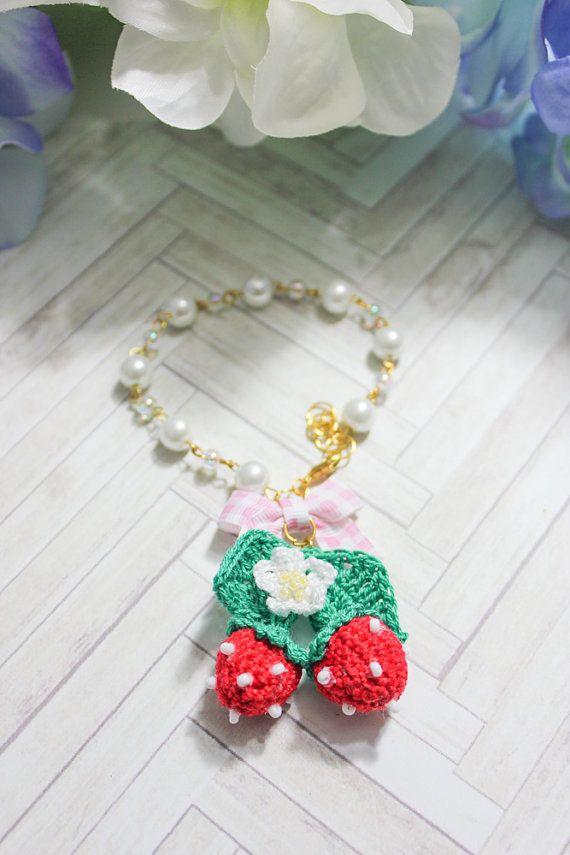 Strawberries & Bow Bracelet.