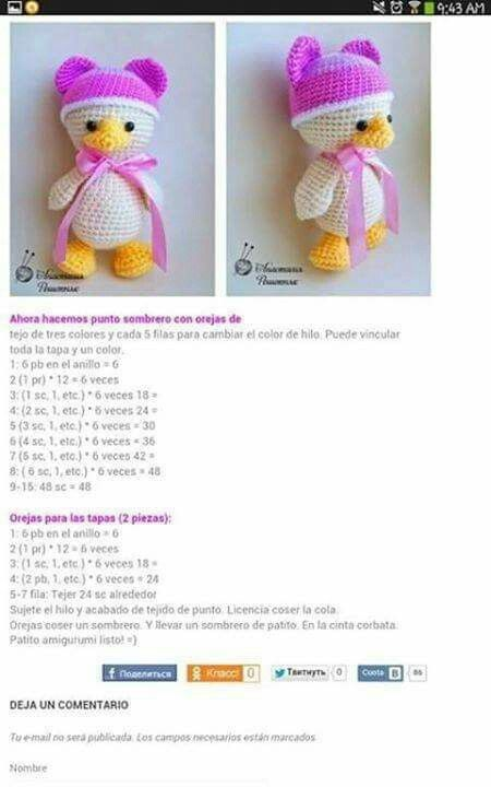 49 best patos-ducks images on Pinterest | Amigurumi patterns ...