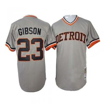 Detroit Tigers Grey #23 Kirk Gibson Authentic Throwback Mitchell 1968 Jersey  - Detroit Tigers Shop