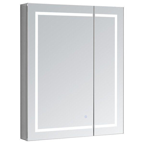 Laurens 30 X 30 Recessed Or Surface Mount Frameless Medicine Cabinet With 3 Adjustable Shelves And Led Lighting Led Lighting Home Adjustable Shelving Bathroom Lighting