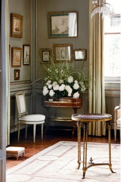 Chateau de Groussay, Italianate House near Chantilly, France. World of Interiors Sept 2011