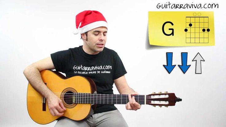 Como tocar Villancicos en guitarra Campana Sobre Campana FACIL