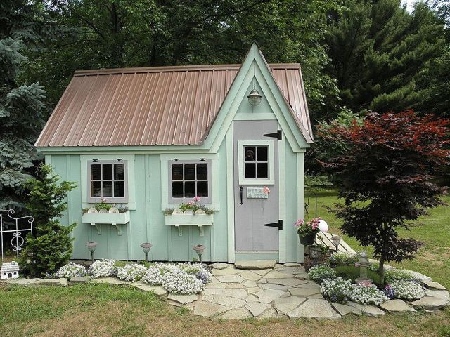 9 Whimsical Garden Shed Designs - Storage Shed Plans - Country Living (collected from Hometalkers!)
