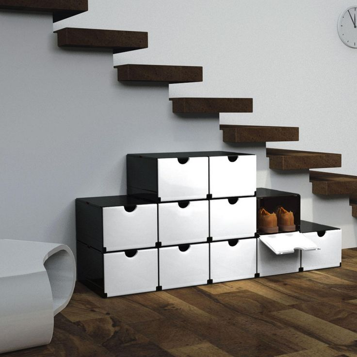 Clever Folding Boxes Folds Up Instantly Into A Shoe Or Supply Cabinet Filing Bathroom Rack Etc