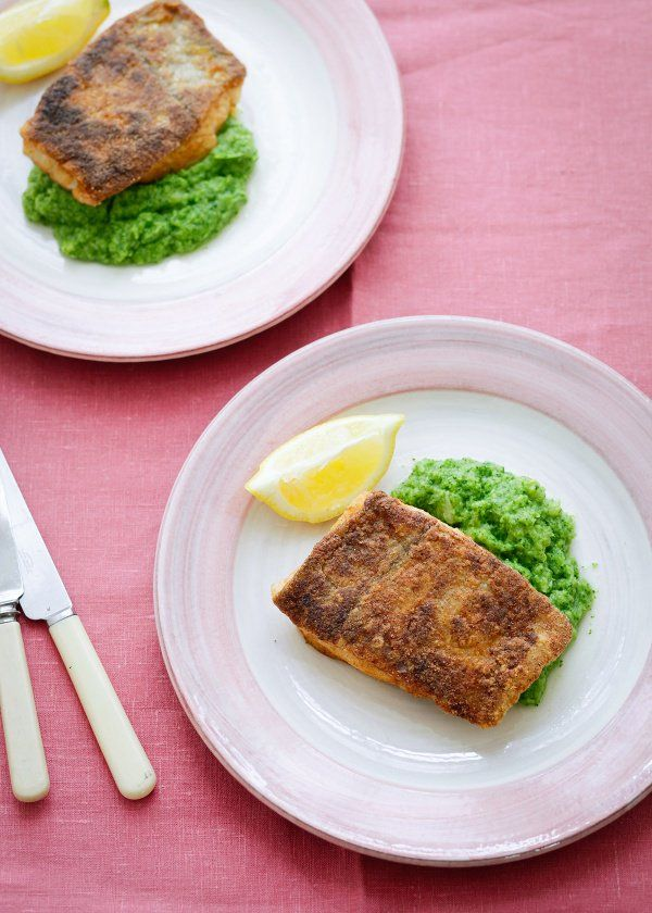 Spiced and Fried Haddock With Broccoli Puree