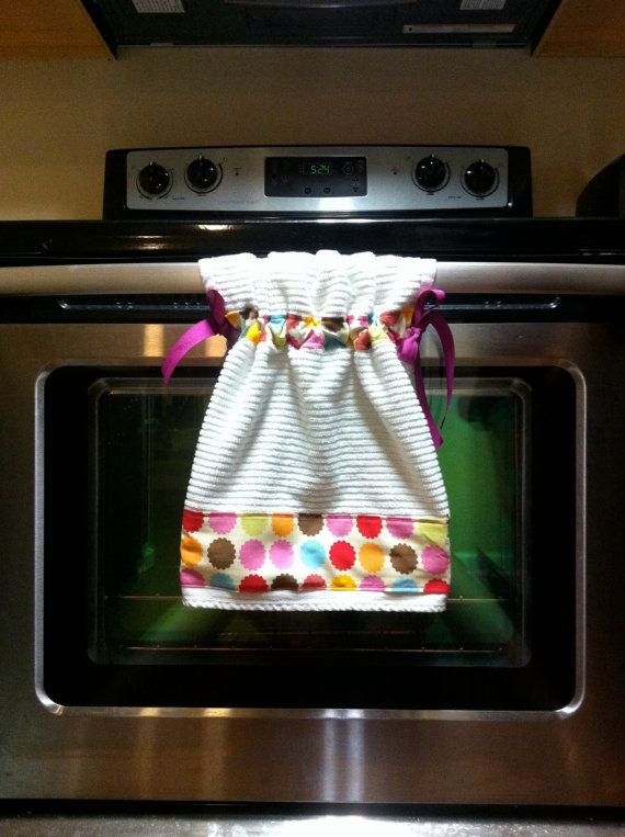 Colorful Hanging Dish Towel