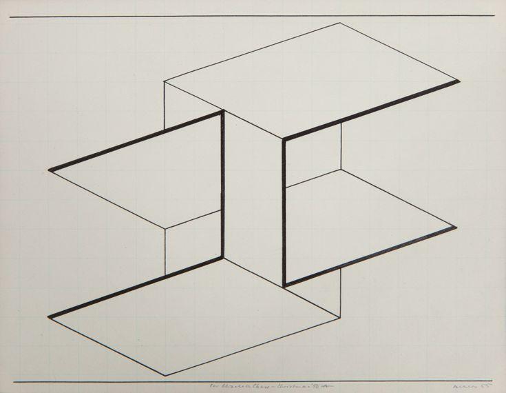 Josef Albers/Interlinear/Ink on Paper/1955