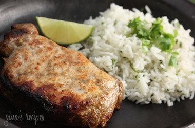 Garlic Lime Marinated Pork Chops Recipes