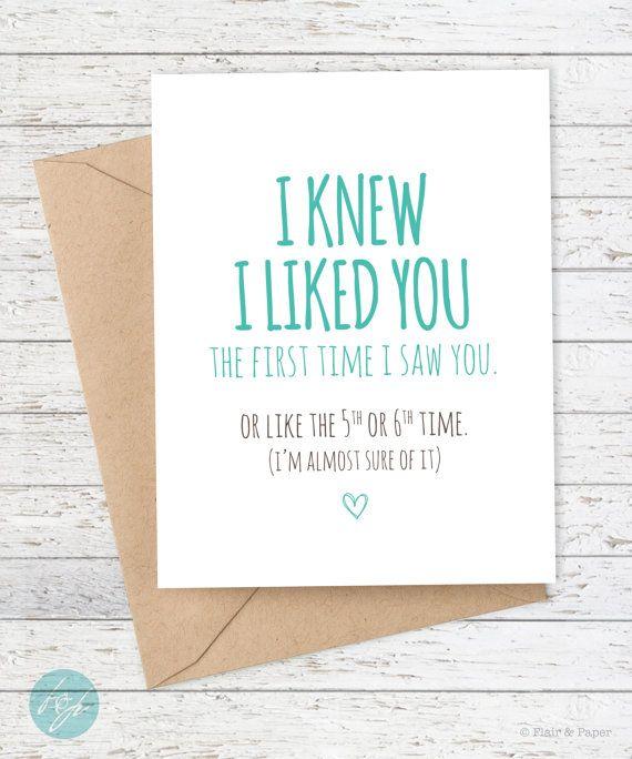 Boyfriend Card Funny I Like You Card By FlairandPaper On