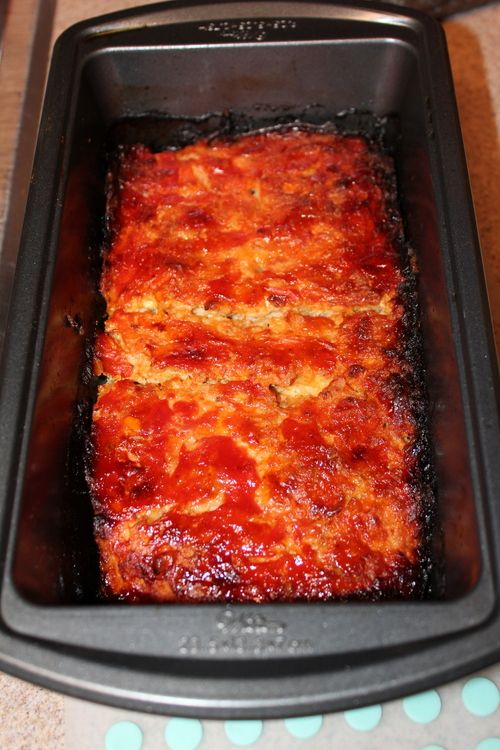 Buffalo Chicken Meatloaf. Turned out very moist and very YUMMY!!! Was not a big fan of meatloaf before, but my mind is now changed :).