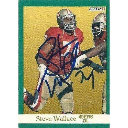 1991, Steve Wallace, San Francisco 49ers, Signed, Autographed, Fleer Football Card, Card # 366, a COA Will Be Included