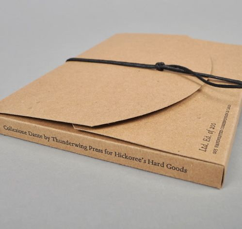 """Our limited ed. """"Collezione Dante"""" letterpressed type-speciemen notecard set (at Hickoree's, Bklyn)"""