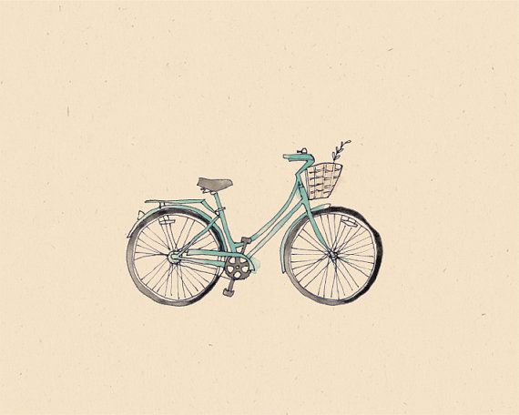 Bicycle illustration retro - photo#2