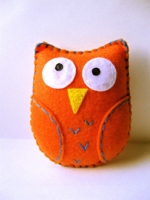 Purty Bird - small orange owl