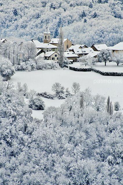 Village de Musièges sous la neige en Haute Savoie (France) - phot. Patrick Morand.