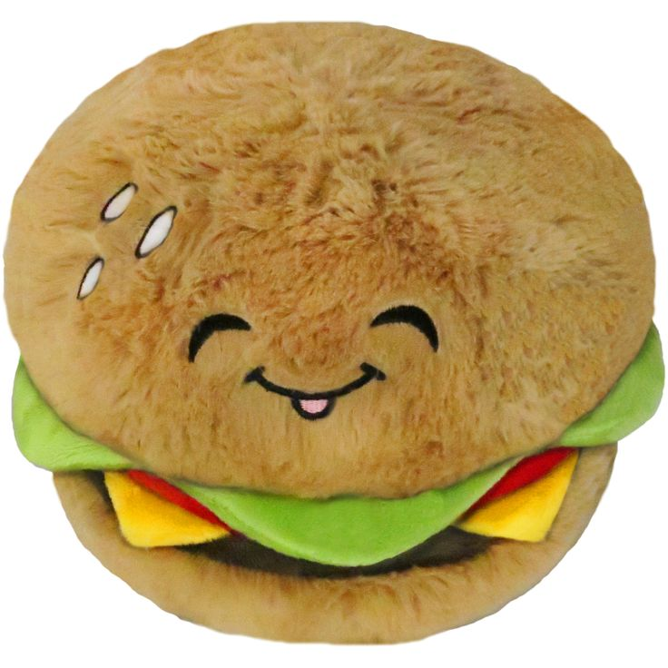 """It's a 12"""" Squishable Cheeseburger! Made in collaboration with Jus #plush #new"""