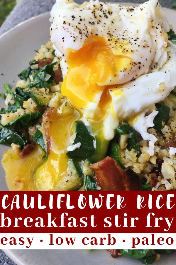 Cauliflower Rice Breakfast Stir Fry