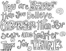 Winnie the Pooh free printable coloring pages, different quotes, or inspiration for your own zentangling.