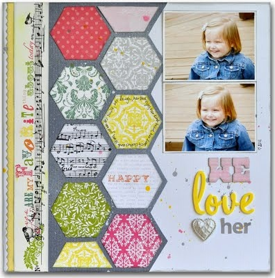 I really like the hexagons in this layout. I'd probably need to cut myself a cardboard template, as all those angles would end up driving me crazy...