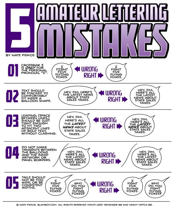 How To Spot Lettering Mistakes - Comic Book Lettering.                                                                                                                                                                                 More
