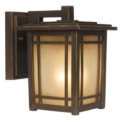 Home Decorators Collection Port Oxford 1 Light Oil Rubbed Chestnut Outdoor Wall Lantern