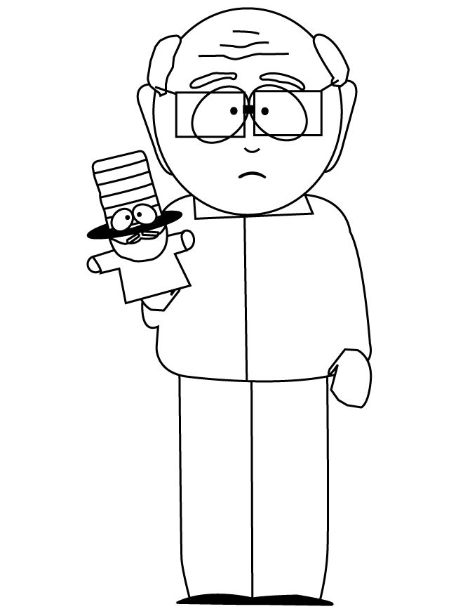 South Park Garrison Coloring Page | Free Printable Coloring Pages