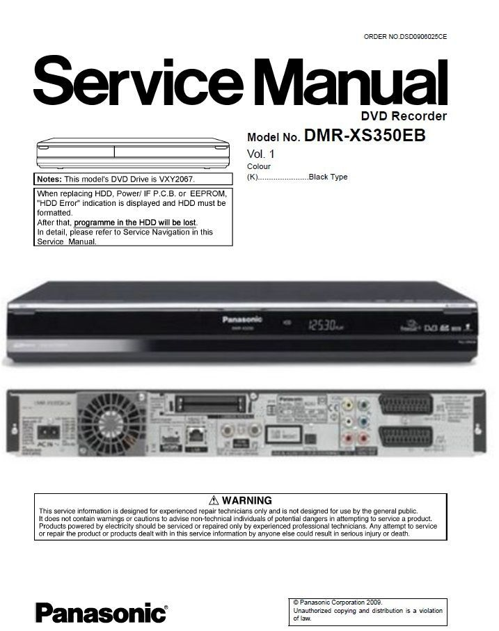 Pin On Panasonic Blu Ray Dvd Player Service Manual
