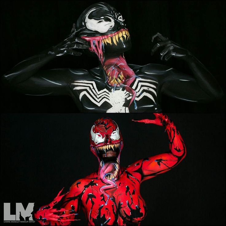 WE ARE VENOM.. Er.. Carnage.. Symbiotes! @mcg_venom  On my way to @bodyssey laughing because even after two showers I still have black paint staining my arms can't wait to meet the amazing delegates and other instructors!  Thanks to my @Twitch family for understanding my lack of streaming today. I'll be posting updates from my snap chat for anyone who's interested!  #tgif #venom #carnage #symbiote #marvel #marveluniverse #marvelous #marvelcomics #yyc #yycmua #lustredust #100daysofmakeup…