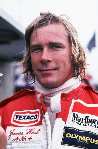 "James Hunt. Formula 1 was very lucky to have met this man. A throwback to an earlier era, he was a refreshing change from the driver-as-corporate-spokesperson. ""I'd just like to thank......the entire BOAC flight crew."""