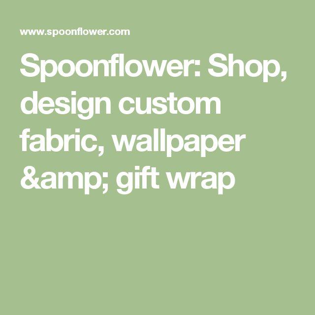 Spoonflower: Shop, design custom fabric, wallpaper & gift wrap