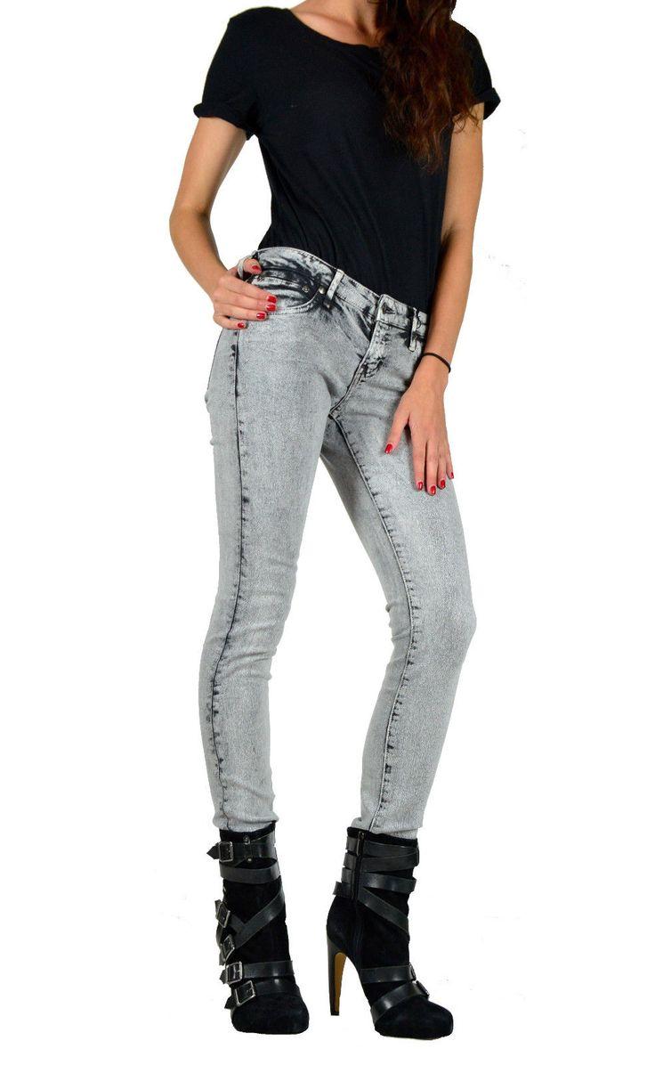 Kill City Lip Service Vintage Cracked Wash Stretch Skinny Punk Jeans Pants