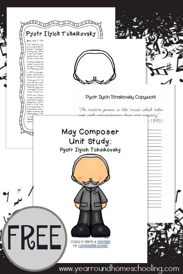 Monthly Composer Unit Study Tchaikovsky