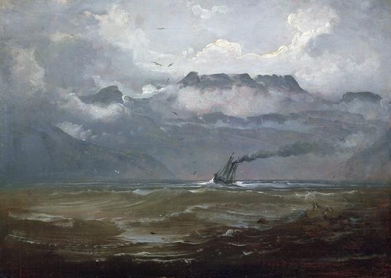 Peder Balke (1804-1887): Fresh breeze in Bind Valley