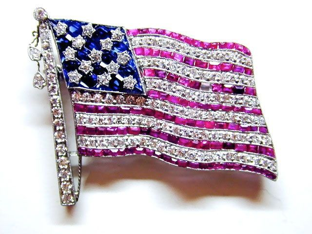 American Flag Pin - SOLD | Andrew Fabrikant & Sons - FabOn5th.com