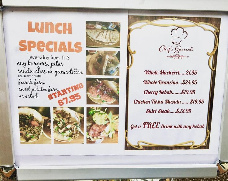 Don't miss our #delicious #lunchspecials #everyday from 11am to 5pm #burgers #pitas #sandwiches #quesadilla #gyro #falafels starting $7.95 #dinnerspecials #chefspecials #wholefish #catchoftheday #branzino #mackerel #tikkamasala #skirtsteak #shabosbbq #chefshabo #cheflife #healthy #glutenfree #halal #vegan #moroccan #restaurant #downtown #hollywood