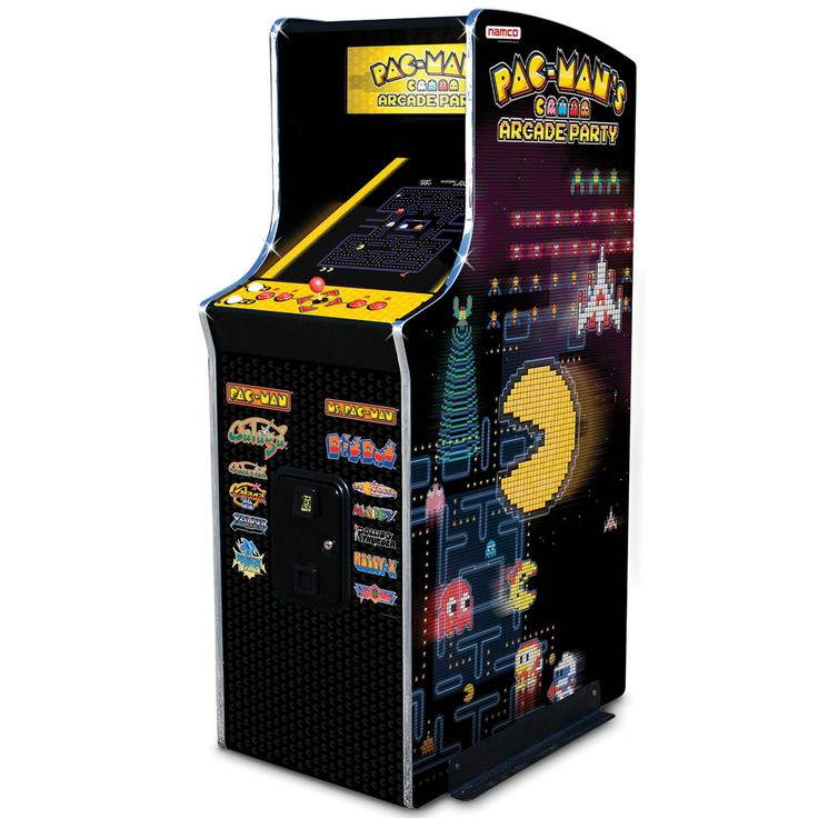 The 30th Anniversary Authentic Pac-Man Arcade Game - Hammacher Schlemmer - Also includes Ms. Pac-Man, Galaga, Dig Dug, Pac-Mania, Bosconian, and more!
